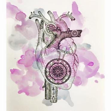 Kidney ink on paper